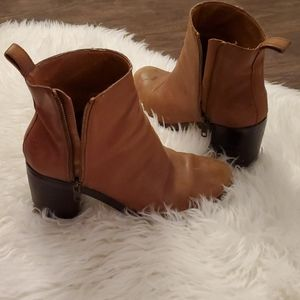 GAP tan leather boots 2014